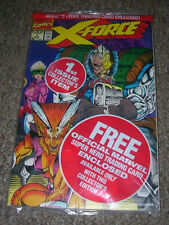 X-FORCE #01, SUNSPOT & GIDEON card, Rob Liefield, Marvel 1991