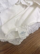 Simply Shabby Chic Eyelet Bedskirt Dust Ruffle King Cotton New Nwot