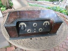 Antique Crosley Super Trirdyn Table Tube Type Battery Radio