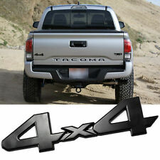 Black 4X4 Logo Badge Trunk Fender Emblem Sticker For Toyota Tacoma Tundra Van