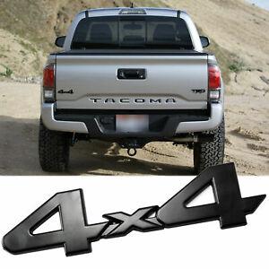 Black 4X4 Logo Badge Trunk Fender Emblem Sticker For Toyota Tacoma Tundra Van