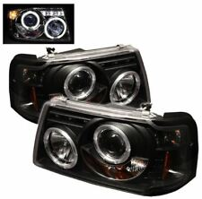 Spyder Projector Headlights - LED Halo - Black #5010490 for 01-11 Ford Ranger