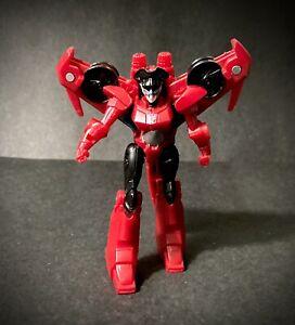 "2017 Hasbro Transformers Red Cyberverse Turbine Thrash Windblade 4"" Robot Loose"
