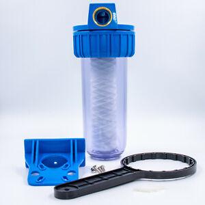 """Wasserfilter Vorfilter Gehäuse 10"""" 5000L/h mit Wickelfilter Hauswasserwerk Set"""