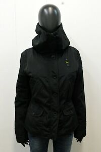 Piumino Donna Blauer Taglia L Giubbotto Nero Giubbino Giacca Woman Black Jacket