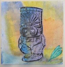 "Tiki Cups ""Buddha"" Original Graffiti Spray Paint Pop Art  Ready to Hang 12x12"