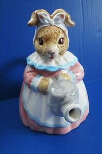 Heritage Mint Collectibles Bunny Decor Ceramic Teapot Easter
