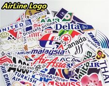 10 X World International Airline Stickers Suitcase Fridge Laptop vinyl stickers