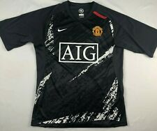 MANCHESTER UNITED NIKE 90 Fit Dry training shirt jersey black gray white AIG S