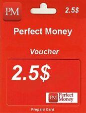 e-VOUCHER PERFECT MONEY 2,5$ - DOŁADOWANIE KOD