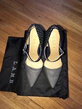 L.A.M.B BRAND NAVY & BLACK HEELS, BEAUTIFUL, Size 6.5, NIB