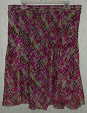 NEW!  WOMENS LANE BRYANT LINED PRINT FULL SKIRT  SIZE 14/16
