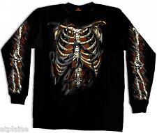 T-Shirt ML SKELETON - Taille XXL - Style BIKER HARLEY