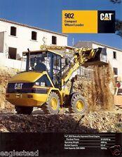 Equipment Brochure Caterpillar 902 Compact Wheel Loader 1998 Eb169