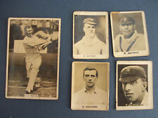 Lot of 5 Vintage English Cricket Cards, 1920s