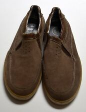 CLARKS Beige Suede Leather 8M Light Brown Nubuck Slip On Casual Loafers