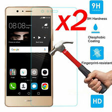2Pcs 100% Genuine  9H+ Tempered Glass Cover Screen Protector For Huawei P9 Lite