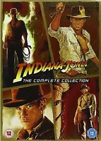 INDIANA JONES Series 1-4 Complete Collection Part 1 2 3 4 All Movies New UK DVD