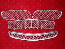 Genuine Bentley Continental GT Front FULL Grille Set 4 pieces painted silver '06