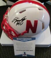 JD SPIELMAN SIGNED NEBRASKA CORNHUSKERS SPEED MINI HELMET BECKETT BAS COA Q96530