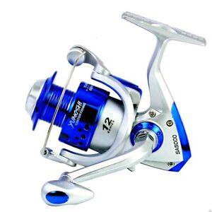 Spinning Fishing Reel Roller Wheel Coil Right Left 5.5:1 High Speed No Gap Blue