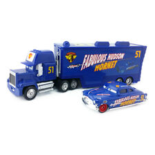 Disney Pixar Car No.51 Mack Racer's Truck & Fabulous Hudson Hornet Toy 1:55 New