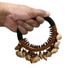 Hand Shaker Spirit rattle Native shamanic Maracas Wood Handheld Waterfall sounds