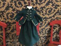American girl doll /PC 1994 Felicity's Green Riding Habit jacket/skirt Retired