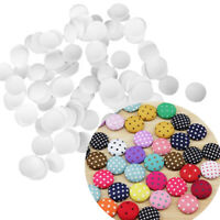 300pcs Round Buttons Base for DIY Fabric Buttons Cover Cloth Buttons 3 Sizes