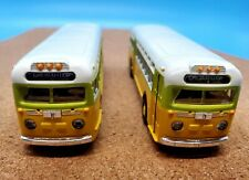 Classic Metal Works 1:87 GM TDH 3610 Chicago Loop Bus TWO PACK MINT SEE DESC!