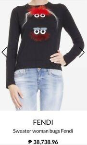 Fendi Bugs Furry Sweater