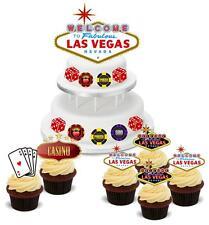 NOVELTY LAS VEGAS CASINO POKER PACK STAND UP Cake Toppers Gamble Birthday Poker