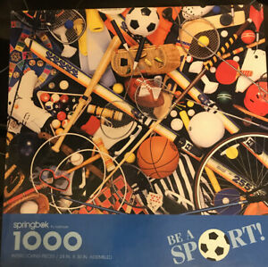 """Springbok BE A SPORT 1000 Piece Jigsaw Puzzle Sports 24"""" x 30"""" Complete Soccer +"""