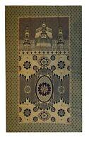 Muslim Prayer Rug/Islamic Janamaz Travelling Prayer Mat with 3 Gift Items,Yellow