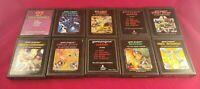 Lot of 10 Atari 2600 Games TESTED Asteroids Berzerk Street Racer Yars Combat