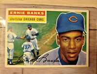 1956 Topps Ernie Banks #15  EX Great Centering.  No creases