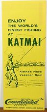 1960's Katmai Fishing Camps Alaska Northern Consolidated Airlines brochure b