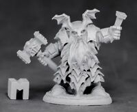 1x DARK DWARF IRONTONGUE PRIEST -DARK HEAVEN LEGENDS REAPER miniature nain 03883