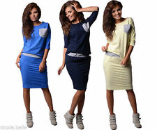 Crew Neck Hip Length Classic Tops & Shirts Plus Size for Women