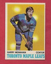 1970-71 TOPPS # 112 LEAFS GARRY MONAHAN NRMT+  CARD