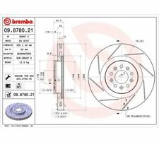 2X BREMBO Brake Disc COATED DISC LINE 09.8780.21 Aston Martin DB9