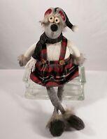 Plaid Sitting Mouse Dangling Leg Northlight Cozy Winter Christmas Figure decor