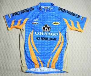 PEARL IZUMI Cycling Jersey Sz M Colnago Look Mavic Blue Polyester Made in Italy