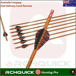 ARCHQUICK 12x 31'' Camo RED Carbon Arrows Archery Recurve Compound Bow Hunting