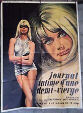 JOURNAL INTIME D'UNE DEMI VIERGE -Affiche originale- 120x160--1969-Solveig Ande