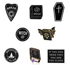 ** Great Fun WITCH Enamel PIN BADGE * Gothic Wicca Pagan Halloween Gift UK STOCK