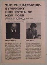 Dimitri Mitropoulos Guido Cantelli rare concert program Sf Opera House May