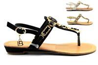 Laura Biagiotti 602 Nero Bianco e Oro Sandali Infradito Donna Calzature Comode