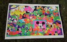 Original NOS Dirty Disney Black light poster