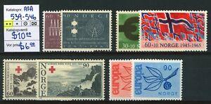 NORWAY AFA 539-546. 1965. Mint never hinged (MNH).